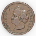 Civil War Patriotics: , (1861-1865) Two Stephen Douglas Tokens, Fuld-154/218a, R.6, andFuld-154/417a, R.7. A nice pair that would fit into many dif...(Total: 2 tokens)