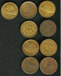 Civil War Patriotics: , (1861-1865) U.S. Civil War Group Lot of Nine Miscellaneous Tokens,All Identified by Fuld Numbers. An above-average lot that...(Total: 9 tokens)