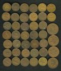 Civil War Patriotics: , (1861-1865) U.S. Civil War Group Lot of 40 Miscellaneous Tokens. Acompletely unsorted and unidentified lot. Current catalog...(Total: 40 tokens)