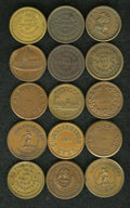 Civil War Patriotics: , (1861-1865) Civil War Patriotic Token Group Lot. Includes 15different tokens, ranging from R.1 to R.4. Some of the catalog ...(Total: 15 tokens)