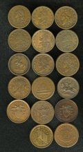 Civil War Patriotics: , An Uncertified lot of (17) Patriotic Civil War Tokens.... (Total:17 tokens)