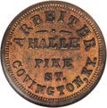 Civil War Merchants: , 1863 Arbeiter, Fuld-KY-150A-4a, R.2, Covington, KY, MS64 Red andBrown NGC. This is one of a handful of tokens issued in the...