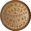 "Civil War Merchants: , (1861-65) John W. Lee Baker, ""One Half Pint of Milk,"" Fuld-480B-3a,R.7, Lexington, KY, MS64 Red and Brown NGC. A scarce Ken..."