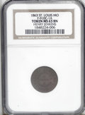 Civil War Merchants: , 1863 Henry Jenkins, Fuld-MO-910C-1a, R.4, St. Louis, MO, MS63 BrownNGC. A chocolate-brown example of this Missouri token th...