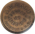Civil War Merchants: , (1861-65) A.W. Gale Restorator, Fuld-NH-120A-1a, R.5, Concord, NH,MS65 Brown NGC. A second example offered here, in this ca...