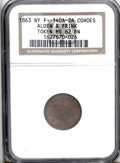 Civil War Merchants: , 1863 Alden & Frank, Fuld-NY-140A-2a, Cohoes, NY, MS62 BrownNGC. A pleasant example with light chocolate surfaces....