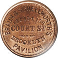 Civil War Merchants: , (1861-65) Braun & Schellworth's, Fuld-NY95A-2a, R.2, Brooklyn,NY, MS64 Red and Brown NGC. A common Civil War storecard with...