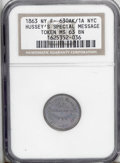 Civil War Merchants: , 1863 Hussey's Special Message, Fuld-NY-630AK-1a, R.2, New York, NY,MS63 Brown NGC. A super nice Civil War token with fantas...