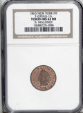 Civil War Merchants: , 1863 Maloney, Fuld-NY-630AU-1a, R.2, New York, NY, MS63 Red andBrown NGC. Simply a super Civil War token, with more luster ...