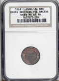 Civil War Merchants: , 1863 Broas Brothers Pie Makers, Fuld-NY-630M-13a, R.3, New York,NY, MS64 Red and Brown NGC. A nice token with the obverse p...