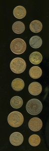 Civil War Tokens: , (1861-1865) U.S. Civil War Token Group Lot of 16. Eleven piecesfrom New York and five pieces from Pennsylvania. The tokens'...(Total: 16 tokens)