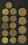 Civil War Merchants: , (1861-1865) U.S. Civil War Group Lot of 15 Storecard Tokens. Mostare identified by their Fuld numbers. Catalog value is abo...(Total: 15 tokens)