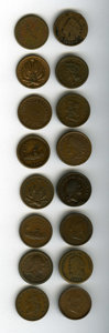 Civil War Tokens: , (1861-1865) U.S. Civil War Group Lot of 16 Miscellaneous Tokens. A good group, many with original luster remaining. The curr... (Total: 16 tokens)