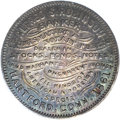 Civil War Merchants: , (1861) Hartford, Connecticut Alfred S. Robinson Token, Ct-HA 11,MS63 NGC. Silver, 28mm. Obverse: (imitation of a Higley thr...