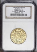Civil War Merchants: , (1861) Hartford Connecticut Alfred S. Robinson Token, Ct-HA 14,MS63 NGC. Brass, 28mm. Obverse: (imitation of a Higley three...