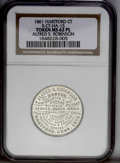 Civil War Merchants: , (1861) Hartford Connecticut Alfred S. Robinson Token, Ct-HA 15,MS62 Prooflike NGC. White metal, 28mm. Obverse: (imitation o...