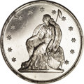 Assay Medals: , 1869 Assay Commission Medal. With Stars. PR63 Uncertified. Julian AC-6, R.6. Aluminum, 33.4 mm., 66.4 grains. The obverse ha...
