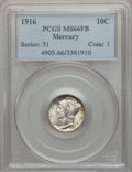 Mercury Dimes: , 1916 10C MS66 Full Bands PCGS. PCGS Population (356/103). NGCCensus: (340/86). Mintage: 22,180,080. Numismedia Wsl. Price ...