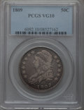 Bust Half Dollars: , 1809 50C Normal Edge VG10 PCGS. PCGS Population (15/628). NGCCensus: (6/723). Mintage: 1,405,810. Numismedia Wsl. Price fo...