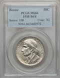 Commemorative Silver: , 1935/34-S 50C Boone MS66 PCGS. PCGS Population (97/17). NGC Census:(85/21). Mintage: 2,004. Numismedia Wsl. Price for prob...