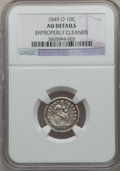 Seated Dimes: , 1849-O 10C -- Improperly Cleaned -- NGC Details. AU. NGC Census:(5/39). PCGS Population (9/26). Mintage: 300,000. Numismed...