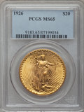 Saint-Gaudens Double Eagles, 1926 $20 MS65 PCGS....