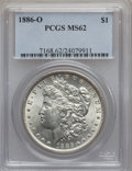 Morgan Dollars: , 1886-O $1 MS62 PCGS. PCGS Population (656/740). NGC Census:(463/397). Mintage: 10,710,000. Numismedia Wsl. Price for probl...