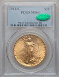 Saint-Gaudens Double Eagles: , 1911-S $20 MS64 PCGS. CAC. PCGS Population (1482/487). NGC Census:(1410/282). Mintage: 775,750. Numismedia Wsl. Price for ...