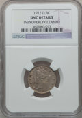 Liberty Nickels: , 1912-D 5C -- Improperly Cleaned -- NGC Details. Unc. NGC Census:(2/645). PCGS Population (7/720). Mintage: 8,474,000. Numi...