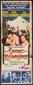 "Movie Posters:Adventure, The Snows of Kilimanjaro (20th Century Fox, 1952). Insert (14"" X36""). Adventure.. ..."