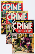 Golden Age (1938-1955):Crime, Crime Does Not Pay Group (Lev Gleason, 1948-55) Condition: Average VG.... (Total: 11 Comic Books)