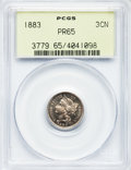Proof Three Cent Nickels: , 1883 3CN PR65 PCGS. PCGS Population (503/411). NGC Census:(497/375). Mintage: 6,609. Numismedia Wsl. Price for problem fre...