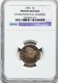 Proof Liberty Nickels: , 1896 5C -- Environmental Damage -- NGC Details. Proof. NGC Census:(1/347). PCGS Population (1/420). Mintage: 1,862. Numism...