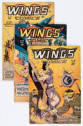 Golden Age (1938-1955):War, Wings Comics Group (Fiction House, 1947-52).... (Total: 12 ComicBooks)