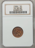 Proof Indian Cents: , 1890 1C PR64 Red and Brown NGC. NGC Census: (144/86). PCGSPopulation (117/34). Mintage: 2,740. Numismedia Wsl. Price for p...