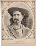 Western Expansion:Cowboy, Buffalo Bill Wild West: Folio Featured Article on Hon. Wm F.Cody 1874....