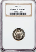 Proof Shield Nickels: , 1882 5C PR64 Ultra Cameo NGC. NGC Census: (1/4). PCGS Population(0/3). ...