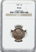 Proof Liberty Nickels: , 1909 5C PR64 NGC. NGC Census: (314/700). PCGS Population (382/553).Mintage: 4,763. Numismedia Wsl. Price for problem free ...