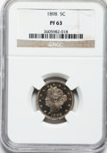 Proof Liberty Nickels: , 1898 5C PR63 NGC. NGC Census: (40/280). PCGS Population (80/300).Mintage: 1,795. Numismedia Wsl. Price for problem free NG...