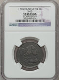 Large Cents: , 1794 1C Head of 1794 -- Corrosion -- NGC Details. VF. S-65. PCGSPopulation (55/349). Numismedia Wsl. ...
