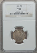 Proof Liberty Nickels: , 1888 5C PR64 NGC. NGC Census: (277/345). PCGS Population (368/257).Mintage: 4,582. Numismedia Wsl. Price for problem free ...