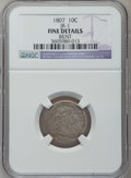 Early Dimes: , 1807 10C -- Bent -- NGC Details. Fine. JR-1. NGC Census: (7/201).PCGS Population (15/274). Mintage: 165,000. Numismedia W...