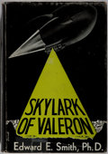 Books:Science Fiction & Fantasy, Edward E. Smith. Skylark of Valeron. Fantasy Press, 1949. First edition, first printing. Light rubbing and toning to...
