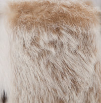 af54e6d681 Fendi White and Brown Rabbit Fur Tote Bag. ... Luxury Accessories ...