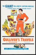"Movie Posters:Animation, Gulliver's Travels (NTA, R-1957). One Sheet (27"" X 41"").Animation.. ..."