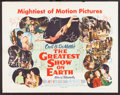 """Movie Posters:Drama, The Greatest Show on Earth (Paramount, 1952). Half Sheet (22"""" X 28"""") Style B. Drama.. ..."""