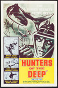 "Movie Posters:Documentary, Hunters of the Deep (DCA, 1955). One Sheet (27"" X 41""). Documentary.. ..."