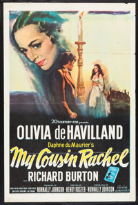 "My Cousin Rachel (20th Century Fox, 1952). One Sheet (27"" X 41""). Mystery"