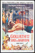 "Movie Posters:Adventure, Goliath and the Sins of Babylon and Others Lot (AmericanInternational, 1964). One Sheets (3) (27"" X 41""). Adventure.. ...(Total: 3 Items)"