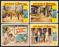 "Movie Posters:Adventure, Love Slaves of the Amazons (Universal International, 1957). TitleLobby Card & Lobby Cards (3) (11"" X 14""). Adventure.. ...(Total: 4 Items)"